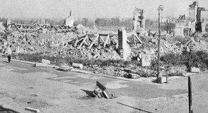 Les restes du chateau royal 1944
