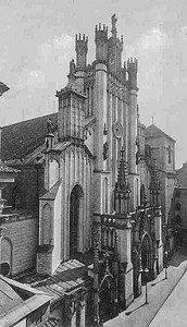 Cathedrale avant 1939 apres sa reconstruction entre 1901-1903