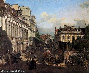 canaletto Palais des eveques de Cracovie et Palais Teppler