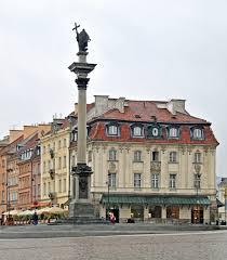 La colonne Sigismond et au fond l'immeuble John