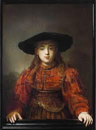 Le portrait d'une jeune fille par Rembrandt.
