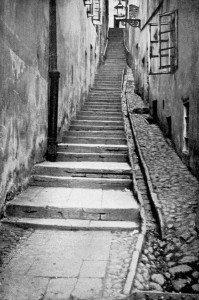 Les escaliers en pierre
